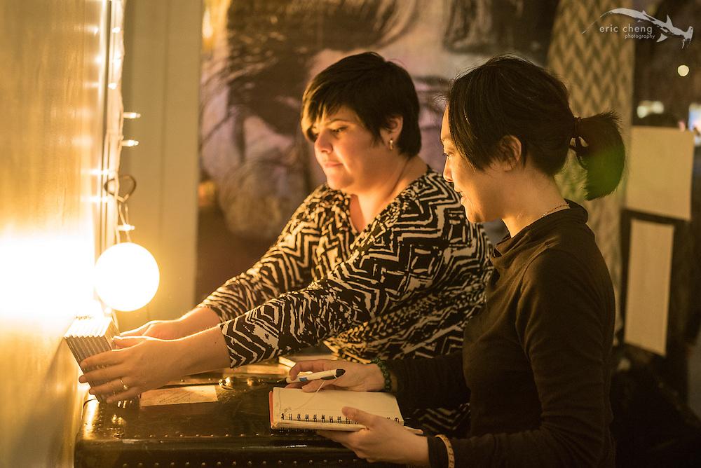 Jen Shyu and Motoko Honda at Studio Grand, Oakland; January 25, 2015.