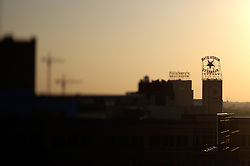 Silhouette of the Northstar Blankets and Pillsbury Buildings in Minneapolis