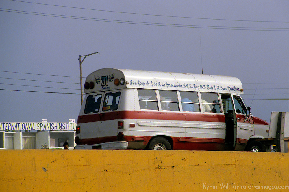 North America, Mexico, Baja California, Ensenada. Local public transportation.