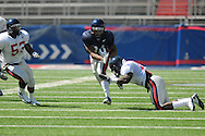 Ole Miss' Brandon Bolden (34) runs at Vaught-Hemingway Stadium in Oxford, Miss. on Saturday, April 2, 2011.