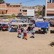 The market of Anzaldo, near Cochabamba, in the Bolivian Andes