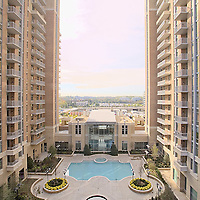 Architectural Photo of Midtown Reston Apartments by Virginia Commercial Photographer Jeffrey Sauers