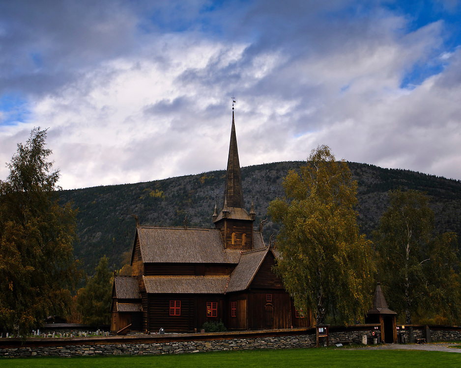 The old stave church of Lom.