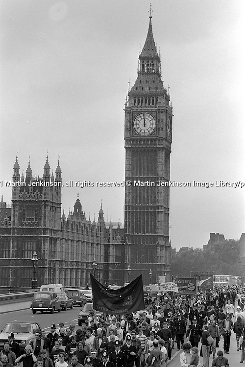 People's  March for Jobs, Yorkshire and Liverpool to London. London 30/05/1981