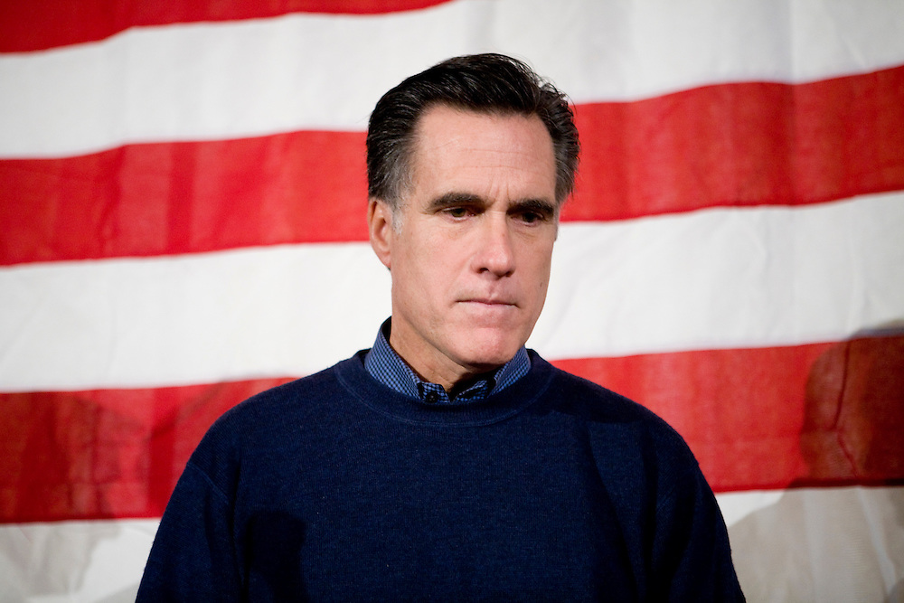 Former Massachusetts governor and Republican presidential hopeful Mitt Romney campaigns in Nashua, N.H., on Monday, Jan. 7, 2008.