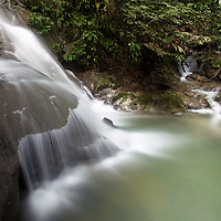 Waterfall at Las Escobas, Cerro San Gil, Guatemala