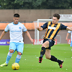 Thomas O'Brien of Forfar tries to get a cross away as Berwick's Michael McKenna attempts to block.....(c) BILLY WHITE | SportPix.org.uk