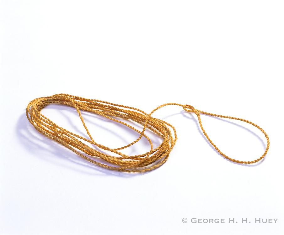 0405-1142 ~ Copyright: George H.H. Huey ~ Anasazi yucca fiber small animal snare.  Mesa Verde National Park, Colorado.