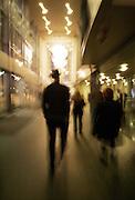 Walking in Benaroya Hall. (Erika Schultz / The Seattle Times)