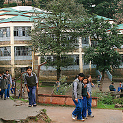 Students at TCV, the Tibetan Children's Village. McLeod Ganj, Dharamsala, India. 7/29/05. This is a school for Tibetan exile children run by the Tibetan government in exile.