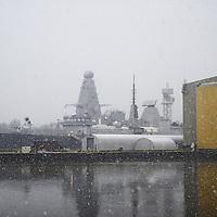 BAE Shipyard, River Clyde & Snow