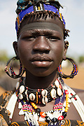 A woman from Jei tribe in Boma - Jonglei State in South Sudan. Photos by Martine Perret. 27 March 2013
