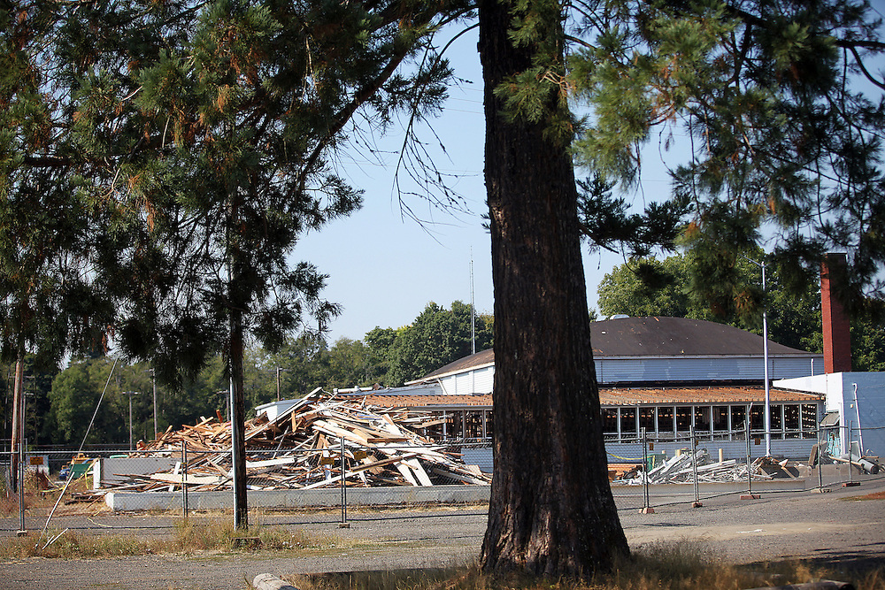 The old high school. Vernonia is rebuilding from vicious floods, and the new school has been built above the flood zone.