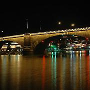 London Bridge Reflection on the waterway in Lake Havasu City, Arizona.