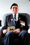 Jack Clabburn in his London flat, British D-Day veteran