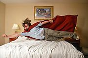 No, I'm not a Super Hero, but I did stay at a Holiday Inn Express last night! ...in Harrington, Delaware Tuesday, June 04, 2013.<br /> <br /> Self Portrait by Matt Roth