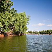 The Brazos River, near County Road 2004, in Brazoria County, Texas.