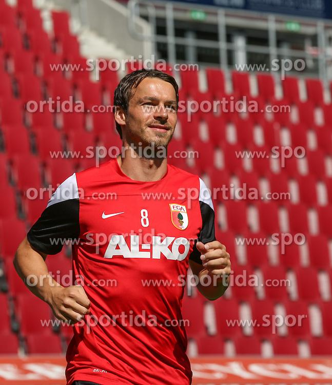 06.07.2014, SGL Arena, Augsburg, GER, 1. FBL, FC Augsburg, Training, im Bild Markus Feulner (FC Augsburg #8), // during a Trainingssession of German Bundesliga Club FC Augsburg at the SGL Arena in Augsburg, Germany on 2014/07/06. EXPA Pictures &copy; 2014, PhotoCredit: EXPA/ Eibner-Pressefoto/ Krieger<br /> <br /> *****ATTENTION - OUT of GER*****