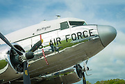 Restored US Air Force DC-3, owned and flown by Dynamic Aviation of Bridgewater, Virginia.