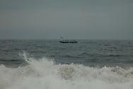 Fishing Boat seen from a beach near Abidjan, Ivory Coast. Photo James Miranda/4SEE NO SALES IN PORTUGAL