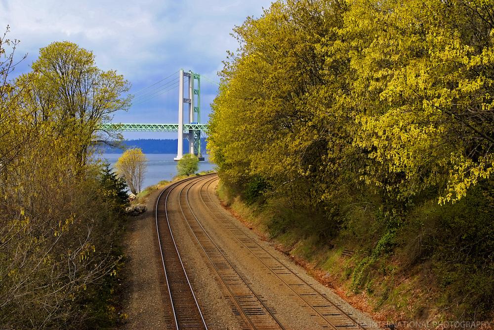 Tacoma Narrows Bridge, Titlow Beach Park, Tacoma, Washington