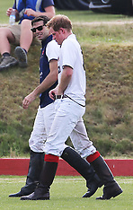 JUN 22 2014 Princes William & Harry play polo