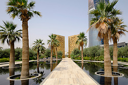 View of Constitution Monument inside new Al Shaheed Park in Kuwait City Kuwait.