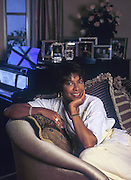 portrait of Natalie Cole at home in Los Angeles
