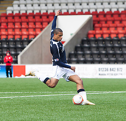 Falkirk's Lyle Taylor scoring their goal..Airdrie United 0 v 1 Falkirk, 30/3/2013..©Michael Schofield..