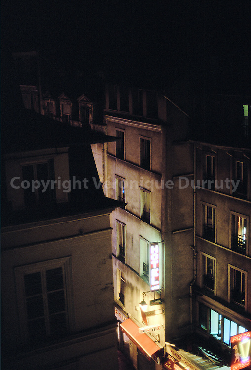 RUE ST DENIS, PARIS BY NIGHT, FRANCE
