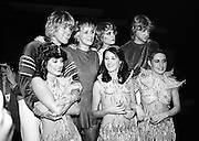 Eurovision Song Contest winners Buck&rsquo;s Fizz are congratulated by Irish entrants Sheba.<br />5 April 1981