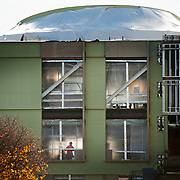 Side view of the Hemmingson Center.