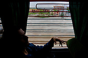 Bus ride from Gracanica, a Serbian enclave, to the capitol Prishtina, Kosovo.