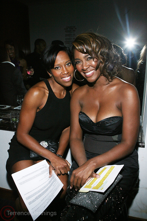 l to r: Regina King and Kenya Moore at The 3rd Annual Black Girls Rock Awards held at the Rose Building at Lincoln Center in New York City on November 2, 2008..BLACK GIRLS ROCK! Inc. is a 501 (c)(3) nonprofit, youth empowerment mentoring organization established for young women of color.  Proceeds from ticket sales will benefit BLACK GIRLS ROCK! Inc.?s mission to empower young women of color via the arts.  All contributions are tax deductible to the extent allowed by