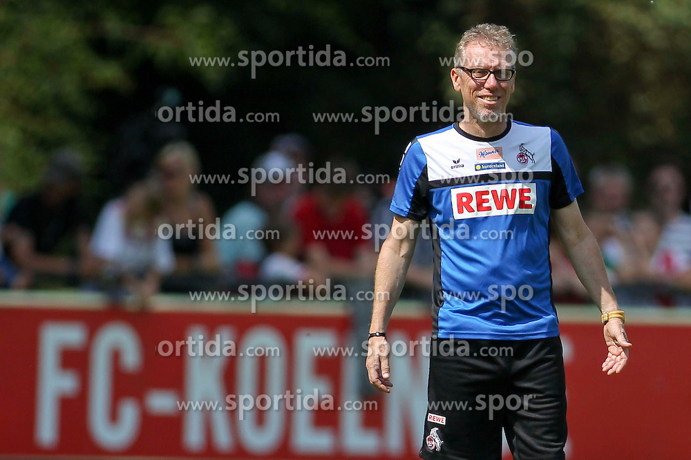 16.07.2015, Geissbockheim, Koeln, GER, 1. FBL, 1. FC Koeln, Training, im Bild Trainer Peter Stoeger (1. FC Koeln) // during a practice session of German Bundesliga Club 1. FC Cologne at the Geissbockheim in Koeln, Germany on 2015/07/16. EXPA Pictures &copy; 2015, PhotoCredit: EXPA/ Eibner-Pressefoto/ Schueler<br /> <br /> *****ATTENTION - OUT of GER*****