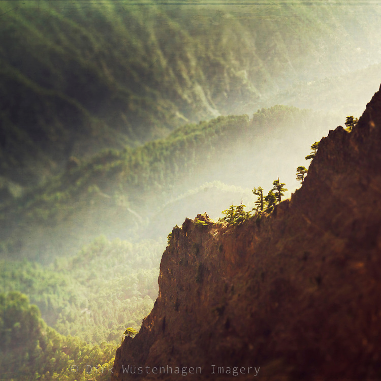 View of Caldera de Taburiente on the island of La Palma, Canary Islands, Spain<br />
