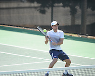 Ole Miss' Stefan Lindmark vs. Baylor at the Palmer/Salloum Tennis Center in Oxford, Miss. on Thursday, March 14, 2013.