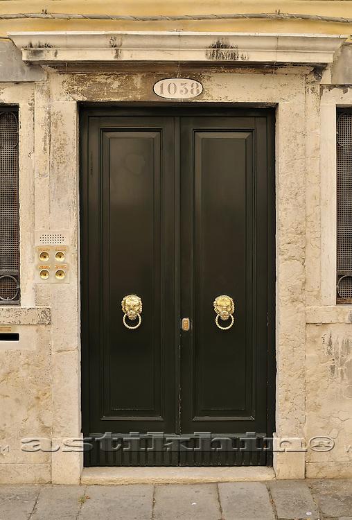 Dark green door
