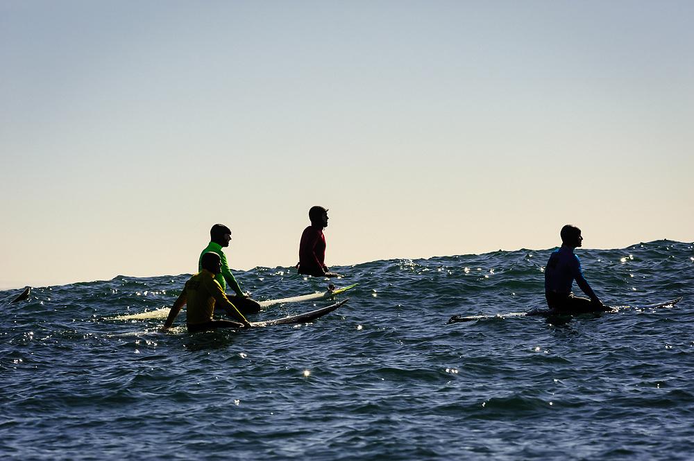 Line up. Mavericks, Half Moon Bay, CA