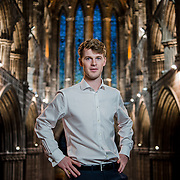 Portrait of Director of Music at Glasgow Cathedral, Andrew Forbes
