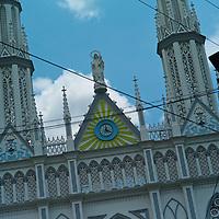 Pictured: Via Espan?a shooping area Street scene. Downtown Panama City. El Carmen Church.Via Espan?a Avenue