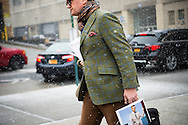 Sportcoat and Scarf, NYFWM Day 2