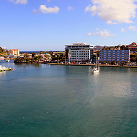 Americas, Caribbean, St. Lucia. Port of Castries, St. Lucia, a cruise destination.