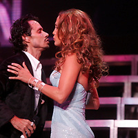 Marc Anthony and  J Lo , Jennifer Lopez performing during the finale of The 2006 Juntos En Concierto presented by ING at Madison Square Garden on August 9, 2006.