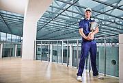 Justin Rose, Shot for BA Business Life Magazine at teh British Airways HQ.
