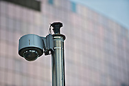 security camera and appartments in background, paris, ladefense