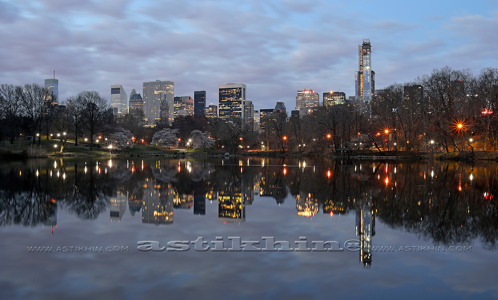 Central Park and buildings in Manhattan, New York City USA.