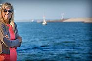 Queen Maxima of The Netherlands visits Zierikzee during her work visit about aqua culture in the province Zeeland, The Netherlands, 9 September 2016. The Queen visits Delta farms plantations, sails with mussel cutter ZZG Vertrouwen and visits Pontes Pieter Zeeman college and information market. 9-9-2016 - Queen Maxima brings Friday, September 9th a working visit to Colijnsplaat and Zierikzee. The visit will focus on innovations in the aquaculture industry in New Zealand. Zeeland's entrepreneurs, municipalities and school students show highlights Zealand has in saline cultivation, mussel innovation, education and cultivation of fish on land. COPYRIGHT ROBIN UTRECHT<br /> 9-9-2016 -  Koningin Maxima brengt vrijdag 9 september een werkbezoek aan Colijnsplaat en Zierikzee. Het bezoek staat in het teken van innovaties in de aquacultuursector in Zeeland. Zeeuwse ondernemers, gemeenten en scholieren laten zien wat Zeeland te bieden heeft op het gebied van zilte teelt, mosselinnovaties, onderwijs en kweek van vis op land. COPYRIGHT ROBIN UTRECHT