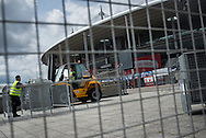 Security measures are being increased at Stade the France prior to Euro 2016<br /> <br /> Photographer Chris Maluszynski /MOMENT/INSTITUTE