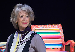 Bonhams, London, February 29th 2016. Actress Maureen Lipman pictured during a photocall for &quot;Sitting Pretty&quot;, featuring unique, hand painted and upholstered chairs made by 30 celebrities and artists, at Bonhams ahead of their auction in support of a leading AIDS charity, CHIVA Africa.<br /> &copy;Paul Davey<br /> FOR LICENCING CONTACT: Paul Davey +44 (0) 7966 016 296 paul@pauldaveycreative.co.uk